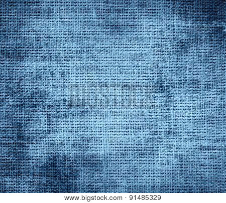 Grunge background of cerulean frost burlap texture