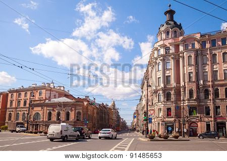 St.petersburg, Perspective Of Bolshoy Prospekt