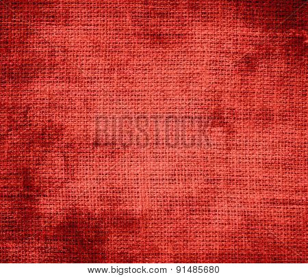 Grunge background of CG red burlap texture