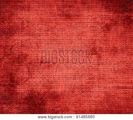 Grunge background of CG red burlap texture