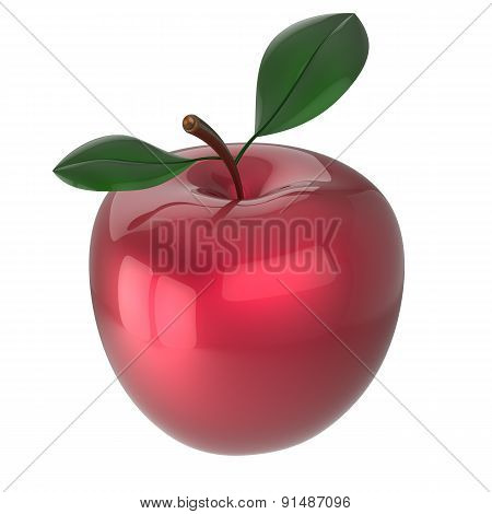 Red Apple Ripe Fruit Agriculture Beauty Icon