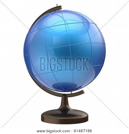 Globe Blank Blue