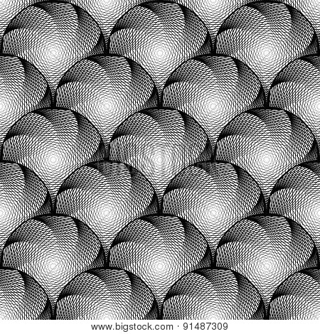 Design Seamless Monochrome Circular Geometric Pattern
