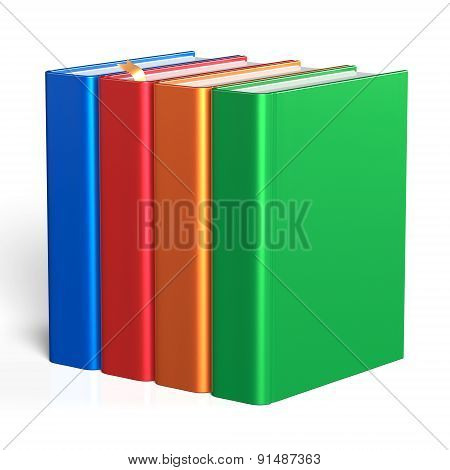 Books Blank Four Educational Textbooks Icon