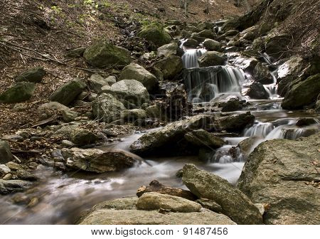 the waterfall of the river