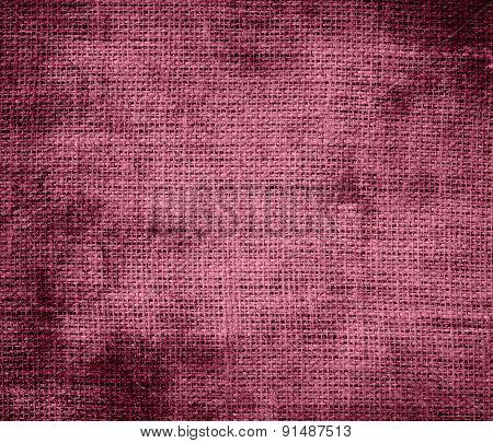 Grunge background of china rose burlap texture