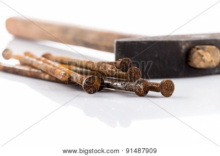Old Hammer And Nails