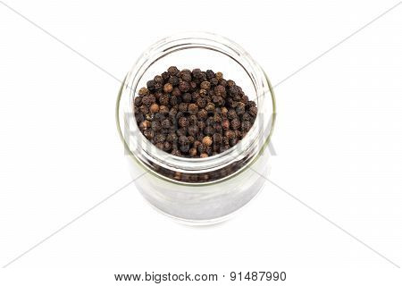 Black Pepper In Glass Bottle