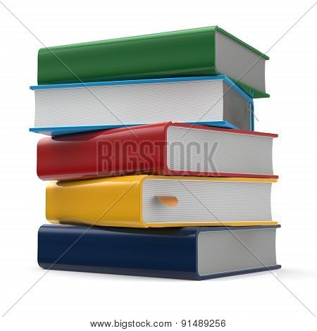 Book Blank Stack Of Books Covers Multicolored Textbooks