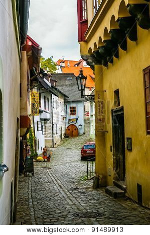 View On Old Street In Cesky Krumlov