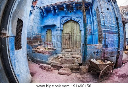 Blue City House In India