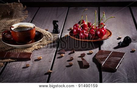 Coffee, Chocolate And Cherry