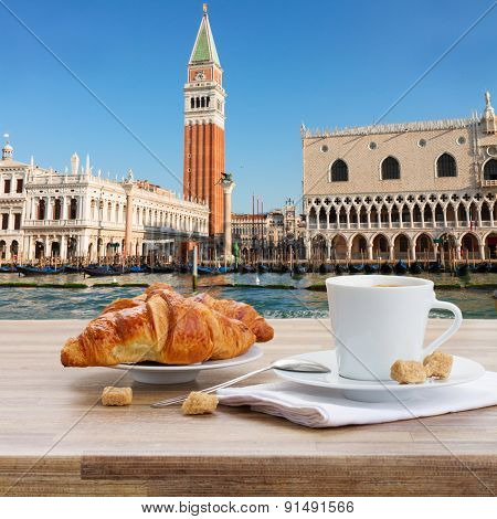 Breakfast at Venice, Italy