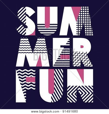 Summer Fun T-shirt Typography, Vector Illustration
