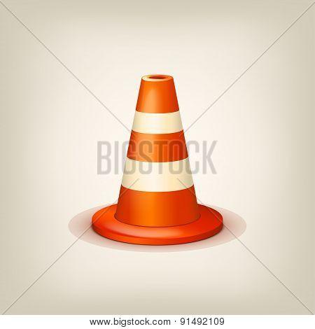 orange road cone