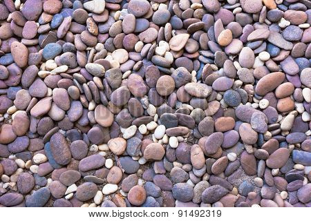 Pebble Stones Background Closeup Of Stones Texture