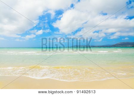 Maria Pia Beach On A Cloudy Day