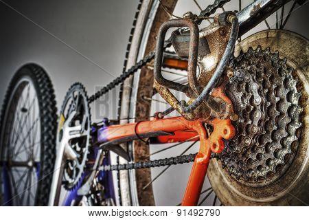 Mountain Bike Rear Wheel In Hdr