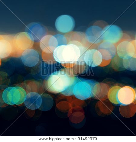 Los Angeles city night Bokeh