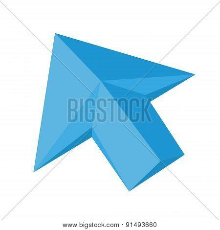 Vector flat arrow cursor