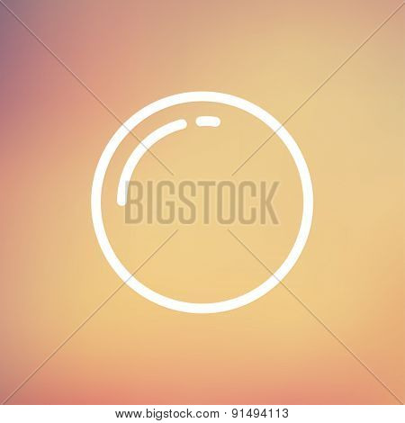 Stop sign icon thin line for web and mobile, modern minimalistic flat design. Vector white icon on gradient mesh background.