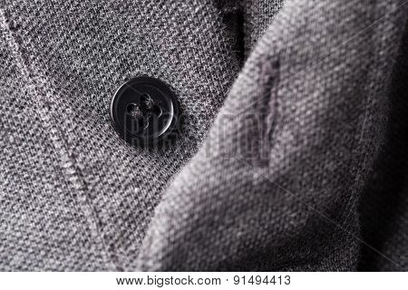 Black Buttons Gray Shirt
