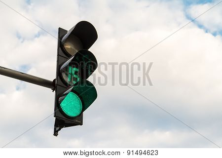 Traffic Sign On Green