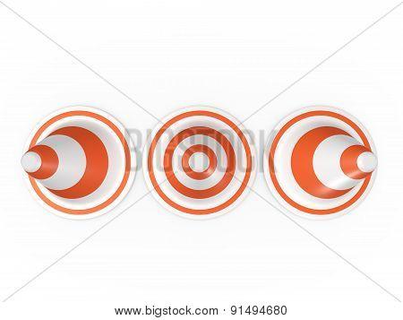 Circular Traffic Cones