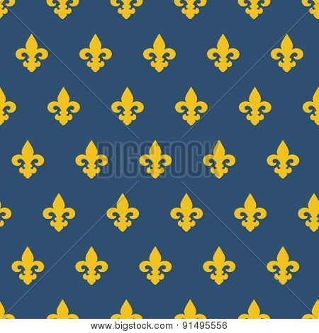 Seamless pattern with royal lily texture