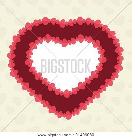Abstract background with cut paper heart.