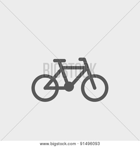 Bicycle icon thin line for web and mobile, modern minimalistic flat design. Vector dark grey icon on light grey background.