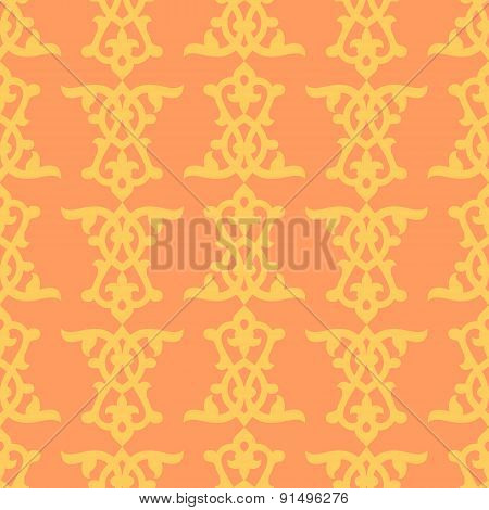 Damask texture with orient floral elements