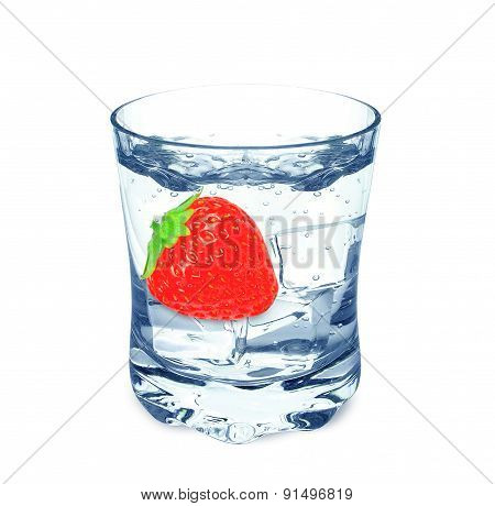 water and strawberry