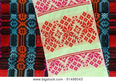 Belorussian Towel With A Classic Geometric Patterns