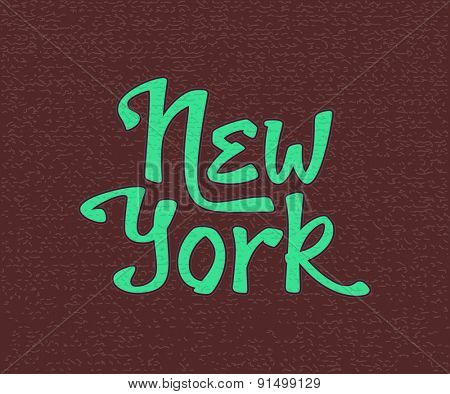 New York lettering t-shirt apparel fashion design print.  Vector illustration