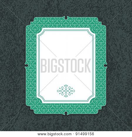 Wedding invitation card template with floral ornaments. Vector illustration