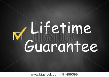 Chalkboard Lifetime Guarantee Checkbox Checked