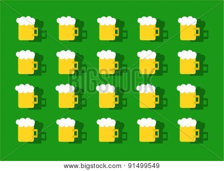 Beer Pattern Background