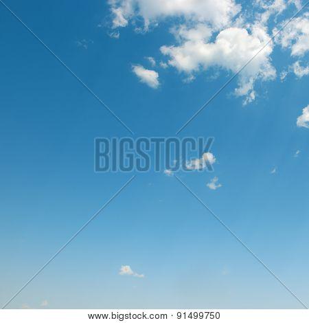 beautiful white clouds in blue sky