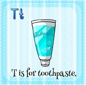 pic of letter t  - Flashcard letter T is for toothpaste - JPG