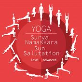 stock photo of surya  - yoga poses - JPG