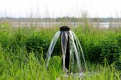 stock photo of steppes  - water source on meadow in steppe - JPG