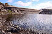 image of canary  - Artificial Lake Water Dam in the Canary Islands Gran Canaria - JPG