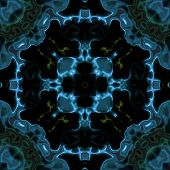 picture of fiction  - Abstract blue transparent science fiction texture made seamless - JPG