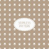 pic of dog footprint  - Seamless pattern with animal footprints - JPG