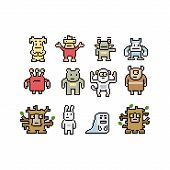 pic of monster symbol  - Pixel art monsters and animals collection - JPG