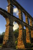 picture of aqueduct  - El Pont del Diable - JPG