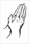 stock photo of praying  - Vector illustration  - JPG