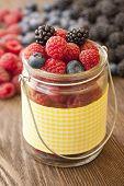 image of blackberries  - different berries  - JPG