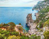 image of crimea  - Rocky beach of Crimea - JPG